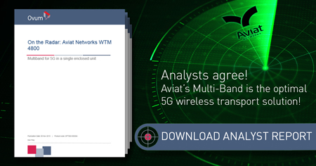Aviat's Multi-Band is the optimal 5G wireless transport solution