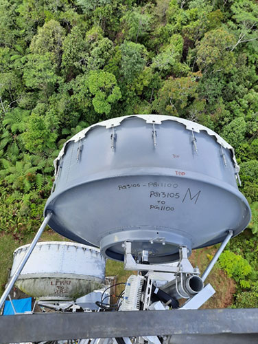 Aviat and Digicel install a 166km link between 2 major cities in Papua New Guinea - using 1.8m antennas
