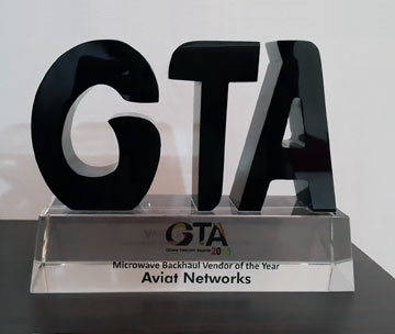 Aviat Networks: Ghana Telecom Awards Microwave Backhaul Vendor award winner for 2015.